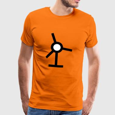 windmill windmuehle wind turbine windrad34 - Männer Premium T-Shirt