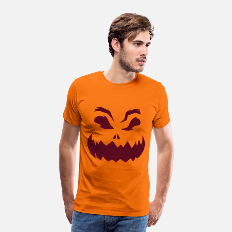 Halloween T-Shirts - Halloween Pumpkin - Men's Premium T-Shirt orange