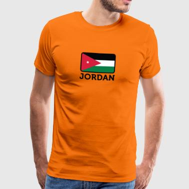 Jordan National Flag Of Jordan - Men's Premium T-Shirt