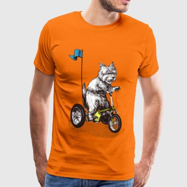 West Highland Terrier Tricycle - T-shirt Premium Homme