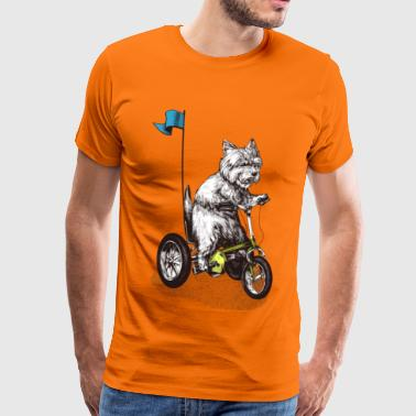 Tricycle West Highland Terrier Tricycle - T-shirt Premium Homme