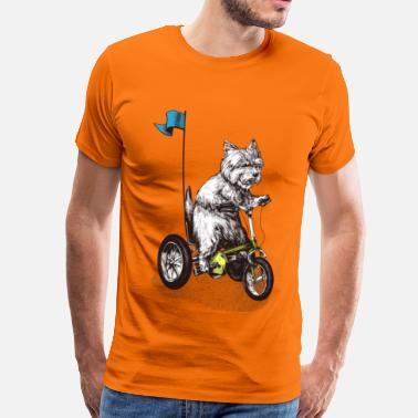 Westie West Highland Terrier Tricycle - T-shirt Premium Homme