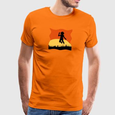 Shot jumping - Men's Premium T-Shirt