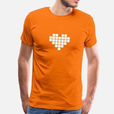 Pixel Heart Pixel Love / pixel heart - Men's Premium T-Shirt