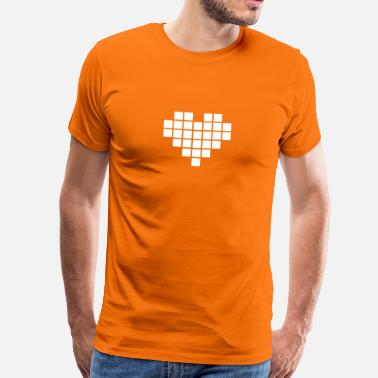 Pixelated Heart Pixel Love / pixel heart - Men's Premium T-Shirt
