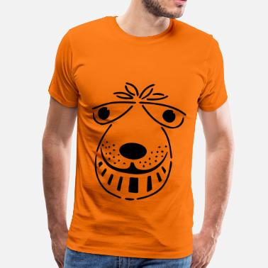 Spacehopper retro space hopper face - Men's Premium T-Shirt