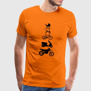 Motorcycle Enduro Evolution Front  - Men's Premium T-Shirt