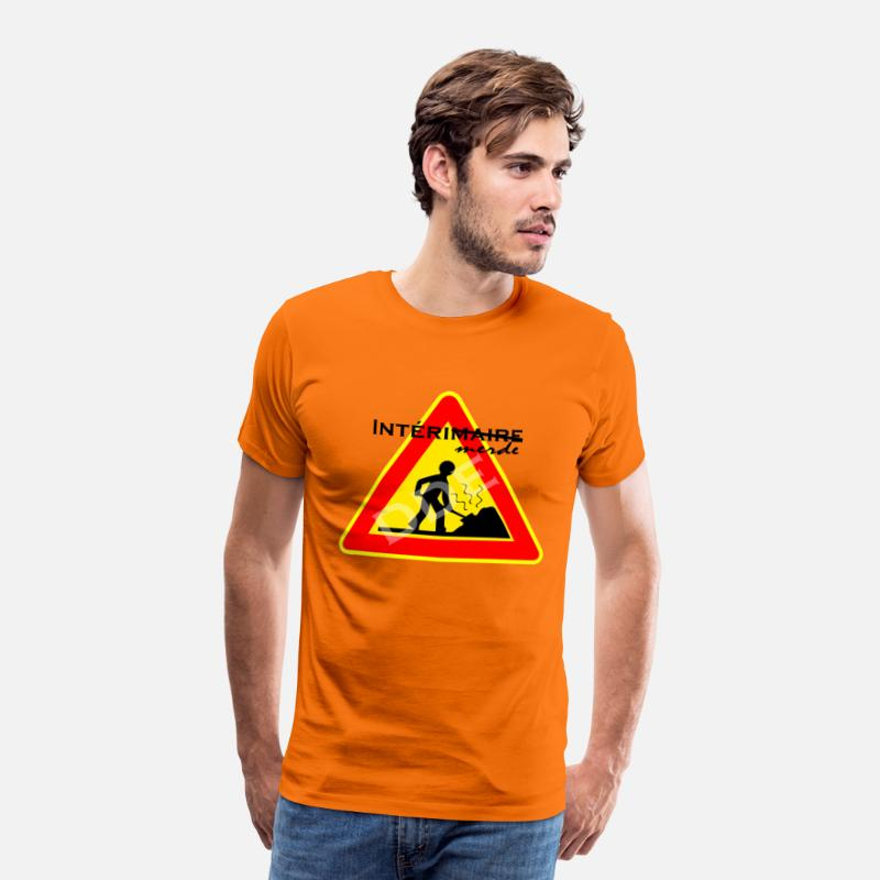 Carrière T-shirts - DDE - T-shirt premium Homme orange