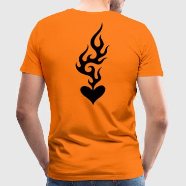 Heart On Fire - Men's Premium T-Shirt