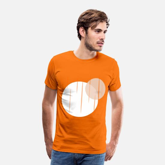 Planet T-Shirts - Planets - Men's Premium T-Shirt orange