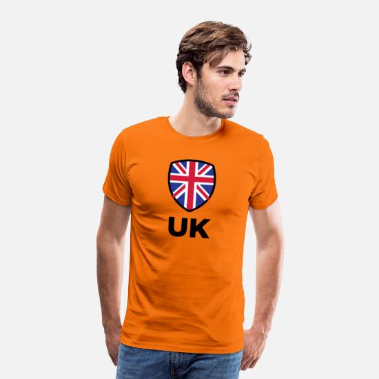 England T-Shirts - National Flag Of The United Kingdom - Men's Premium T-Shirt orange