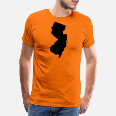Carolina new jersey usa - Premium T-skjorte for menn