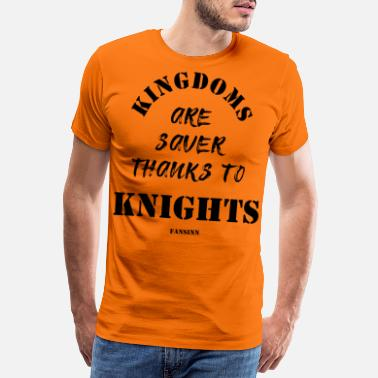 Ridderskap Knight Castle Kingdom Princess Dragon Gift - Premium T-shirt herr