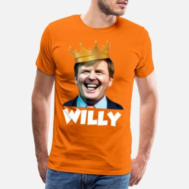 Koning Willy (wit) - Mannen premium T-shirt