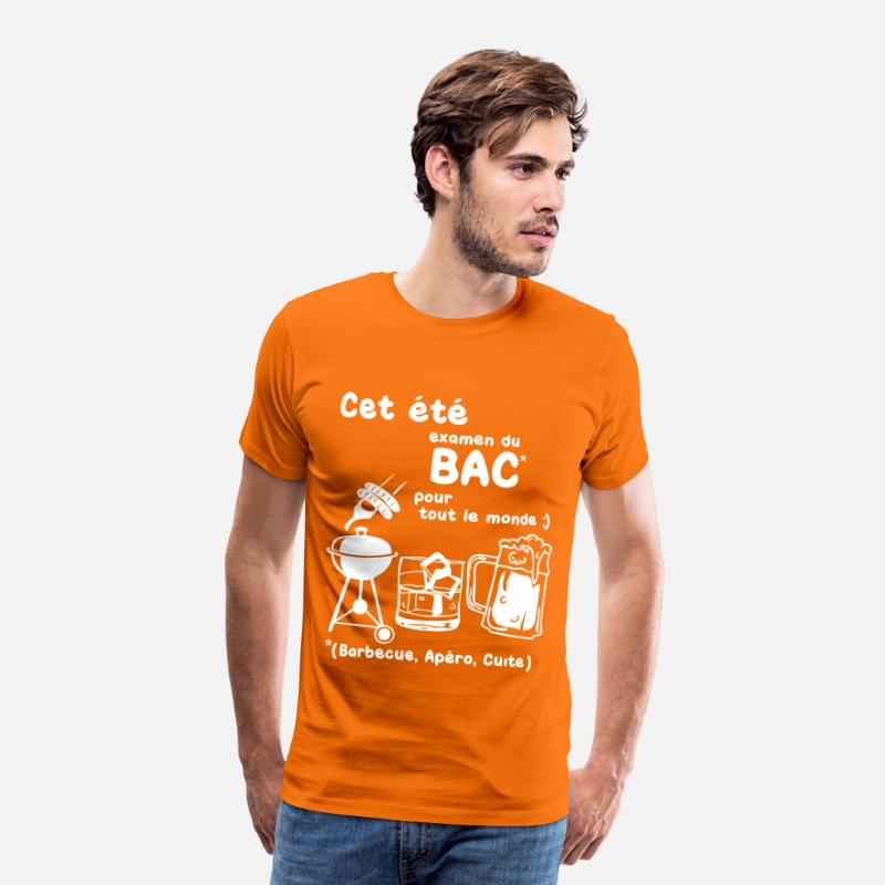 Apéro T-shirts - bac_ete - T-shirt premium Homme orange