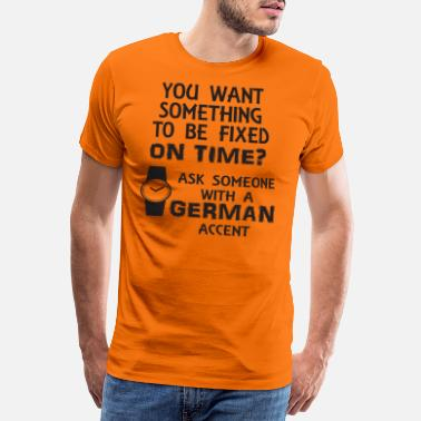 Accent German accent - Men's Premium T-Shirt