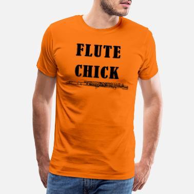 4b44748b Band Flute Chick - Premium T-skjorte for menn