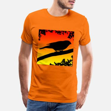 Vanity Bullfinch at dusk - Men's Premium T-Shirt