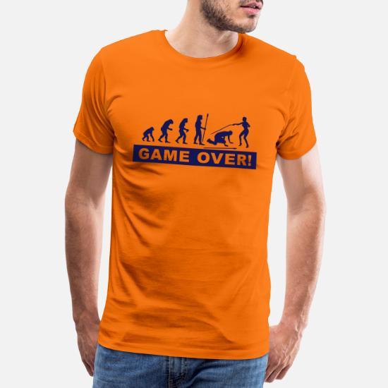 evolution_Junggesellenabschied Premium T shirt mænd