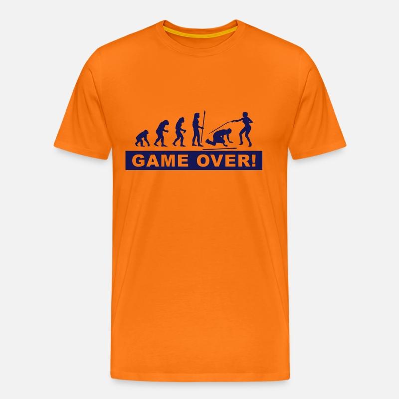 evolution_Junggesellenabschied Herre premium T shirt grågrøn