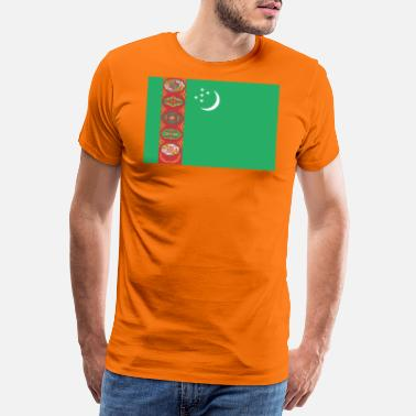 Central Asia Flag of Turkmenistan. - Men's Premium T-Shirt
