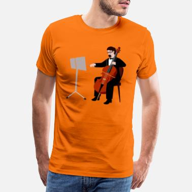 Bandiera violin music band 29 F - Männer Premium T-Shirt