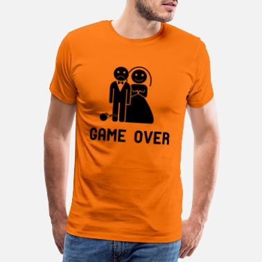 Vrijgezellenfeest game over! - Mannen premium T-shirt