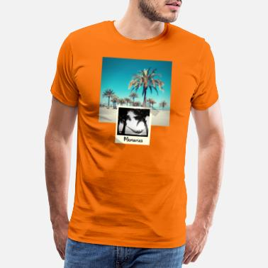 Photo Polaroid Beach Palm Trees Photo Graphic Design - Men's Premium T-Shirt