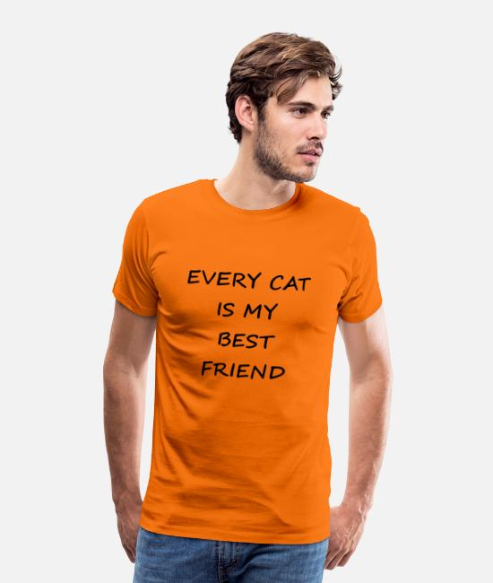 Miau T-Shirts - every cat is my best friend - Männer Premium T-Shirt Orange
