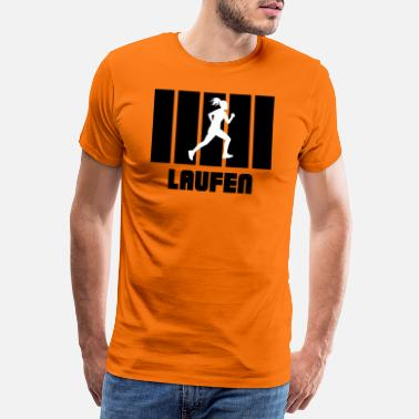 Cyclist Running Run Runner - Männer Premium T-Shirt
