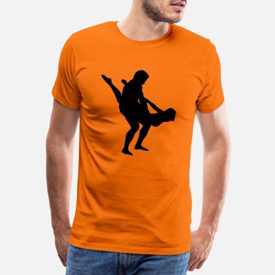 aabd65ae Fuck T-Shirts - sex position - Men's Premium T-Shirt orange
