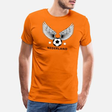 Internationale Spiele Holland orange internationales Fußballtrikot - Männer Premium T-Shirt