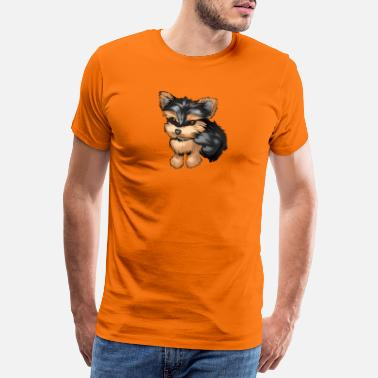 Terrier Comic Yorkshire Terrier Comic - Männer Premium T-Shirt