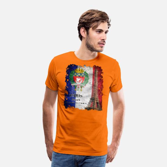New T-Shirts - Paris - Men's Premium T-Shirt orange