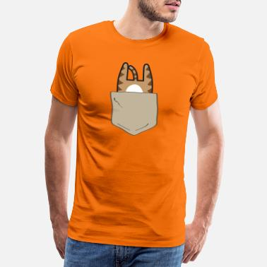 Pocket Kitten in breast pocket - Men's Premium T-Shirt