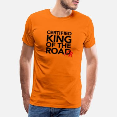 Growl Text Celka KingOfTheRoad v1 - Men's Premium T-Shirt