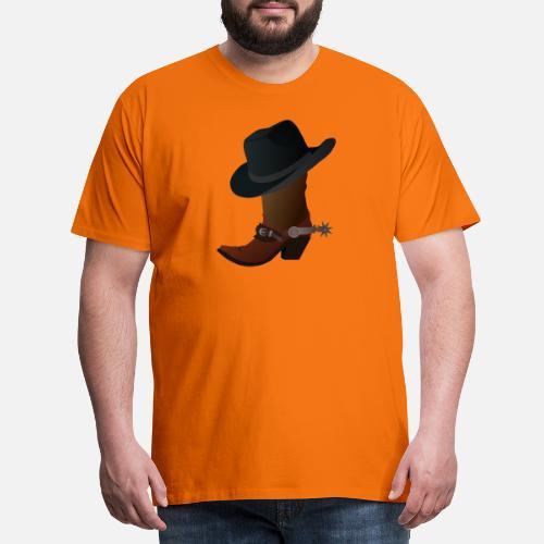 vaquero ranchero Wester caballo guardabosques sheriff - Camiseta premium  hombre. detrás. detrás. Diseño. delante. delante 33d44e7e8e1