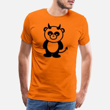 Devil Cute panda animal devil - Men's Premium T-Shirt