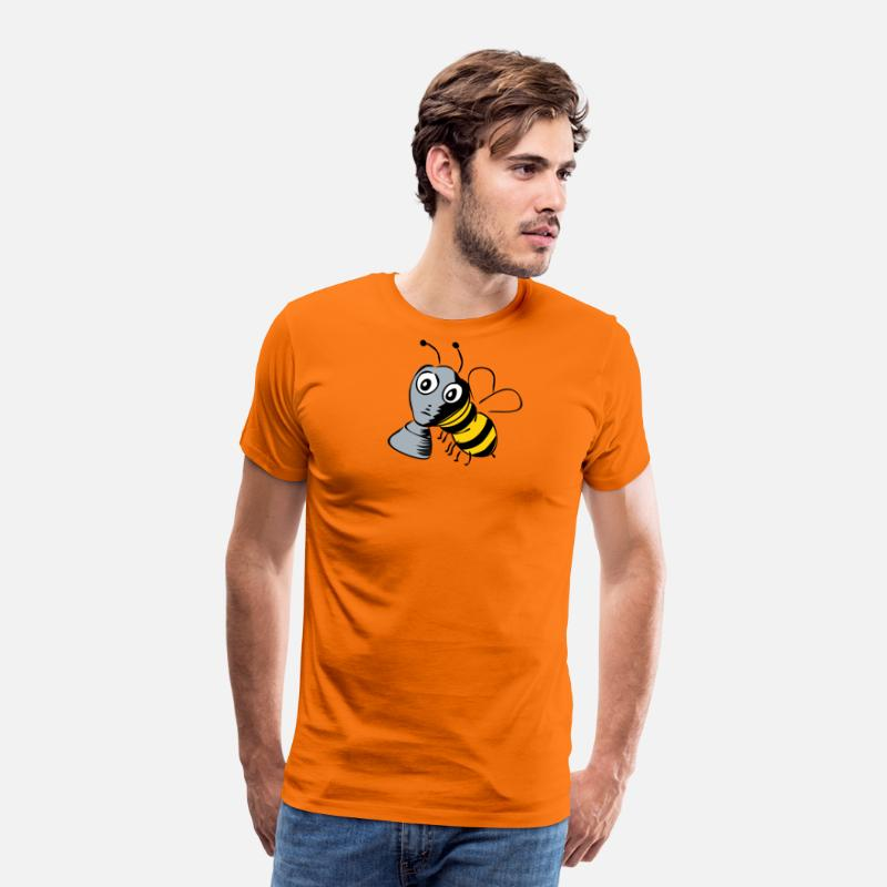 Bumble Bee T-Shirts - Protect the bees! - Men's Premium T-Shirt orange
