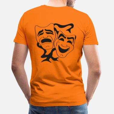 theater masks - Men's Premium T-Shirt