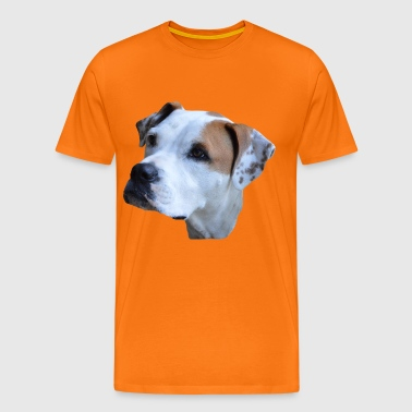 Dog head, dog face, dog, - Men's Premium T-Shirt