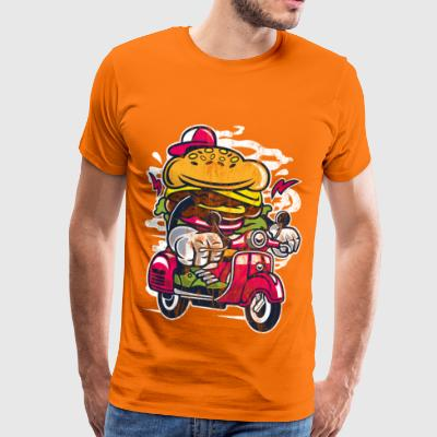 ROLLER BURGER - shirt design de personnage de dessin animé Cartoon - T-shirt Premium Homme