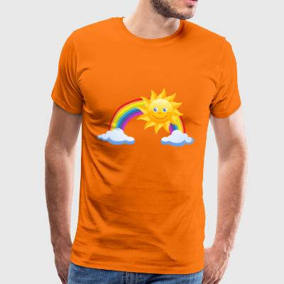 Sun, rainbow and clouds - Men's Premium T-Shirt