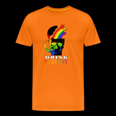 Rainbow Skull Drink - Men's Premium T-Shirt