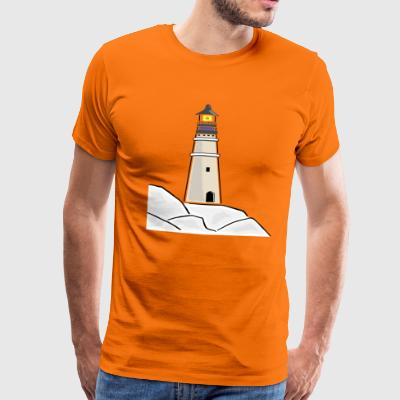 maritime Lighthouse - Premium T-skjorte for menn
