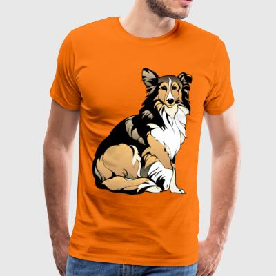 Olo the collie - Men's Premium T-Shirt