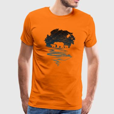Ours polaire ours sauvage silhouette ours polaire - T-shirt Premium Homme