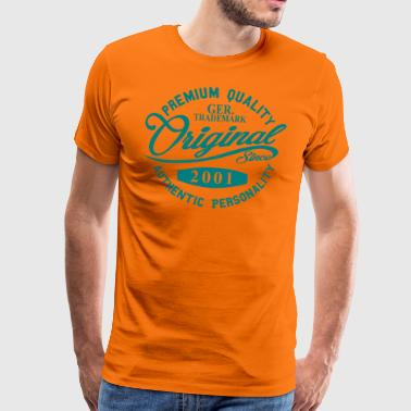 Original Since 2001 Handwriting Premium Quality - Männer Premium T-Shirt