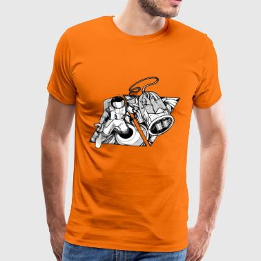 air mens T orange - Mannen Premium T-shirt