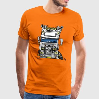 0613 daf fx on the road wit - Mannen Premium T-shirt